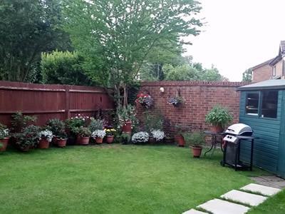 with Relaxing Garden